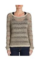 Alice + Olivia Brenna Beaded Cotton Sweater - Lyst