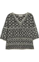 Etoile Isabel Marant Bela Intarsia Cotton Blend Top