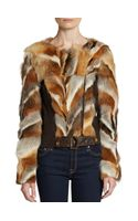 Kelly Wearstler Winstron Fox Fur Jacket - Lyst