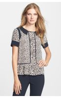 Marc By Marc Jacobs Bianca Print Silk Blouse - Lyst