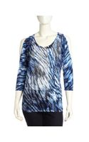 Alberto Makali Cold Shoulder Printed Tunic  - Lyst