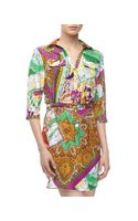 Alberto Makali Paisley Mixed Print Shirtdress