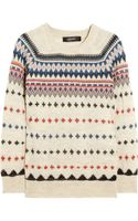 Isabel Marant Moonsfield Intarsia Wool Blend Sweater