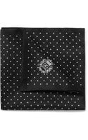 Dolce & Gabbana Dotprint Silk and Cottonblend Satin Pocket Square - Lyst