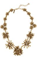 Oscar de la Renta Goldplated Seaweed Necklace - Lyst