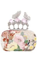Alexander McQueen Embroidered Butterfly Knucklebox Clutch
