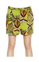 Etro Printed Cotton Drill Shorts