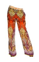 Etro Printed Silk Georgette Trousers