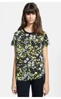 The Kooples Flower Print Matte Crepe Top - Lyst