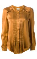 Etoile Isabel Marant Pleat Satin Blouse