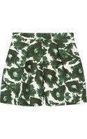 Mother Of Pearl Nyos Printed Cotton Blend Shorts