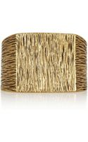 Saint Laurent Goldplated Cuff
