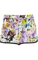 Etro Floralprint Silk Shorts - Lyst