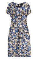 J.Crew Collection Floralprint Woolblend Dress - Lyst