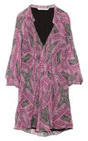 Diane Von Furstenberg Fleurette Printed Silk Chiffon Mini Dress