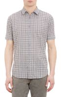 John Varvatos Check Shortsleeve Shirt