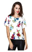 Nasty Gal Floral Ways Top - Lyst