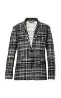 Bottega Veneta Notch Lapel Check Blazer