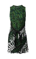 Proenza Schouler Belted Abstract Print Dress - Lyst