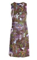 Carven Jungle Print Cotton Shift Dress