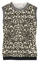 Pierre Balmain Leopardprint Cotton Top - Lyst