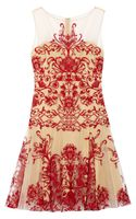 Notte By Marchesa Embroidered Tulle Mini Dress - Lyst