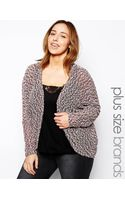 Ax Paris Plus Size Lurex Popcorn Cardigan - Lyst