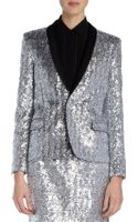 Saint Laurent Sequin Blazer - Lyst