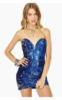 Nasty Gal Helix Dress Blue Sequin - Lyst