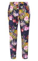 Matthew Williamson Floralprint Silk Pants - Lyst