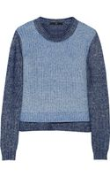 Tibi Marled Cotton blend Sweater - Lyst