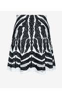 Rvn Exclusive Abstract Jacquard Flare Skirt - Lyst