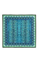 Roberto Cavalli Ashley Printed Silk Scarf Blue