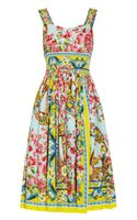 Dolce & Gabbana Printed Cottonpoplin Dress - Lyst