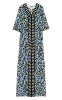 Matthew Williamson Leopardprint Silk Crepe De Chine Kaftan