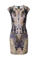 McQ by Alexander McQueen Snakeskin Print Dress - Lyst