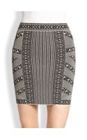 BCBGMAXAZRIA Josa Printed Stretch Jersey Mini Skirt - Lyst