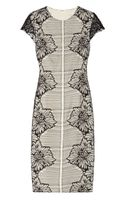 Lela Rose Lace and Crepe Dress - Lyst