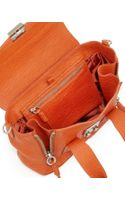 3.1 Phillip Lim Pashli Mini Leather Satchel Bag Orange
