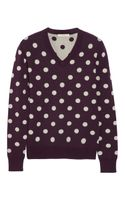 Burberry Brit Polkadot Intarsia Knitted Sweater - Lyst
