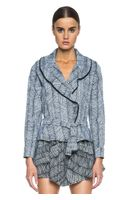 Kenzo Graphic Curtain Ruffled Jacket