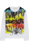 Cedric Charlier Printed Stretch Cotton Sweatshirt