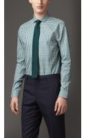 Burberry Slim Fit Cotton Gingham Shirt
