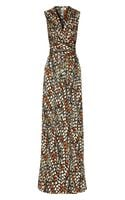 Issa Wrapeffect Printed Silk Jersey Maxi Dress - Lyst
