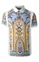 Etro Printed Polo Shirt - Lyst