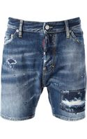 DSquared2 Distressed Shorts - Lyst