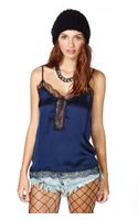 Nasty Gal Almost Midnight Lace Cami - Lyst