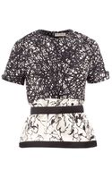 Balenciaga Panelled Printed Top - Lyst