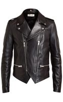 Saint Laurent Classic Leather Biker Jacket - Lyst
