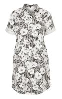 Topshop Aloha Tencil Shirt Dress - Lyst